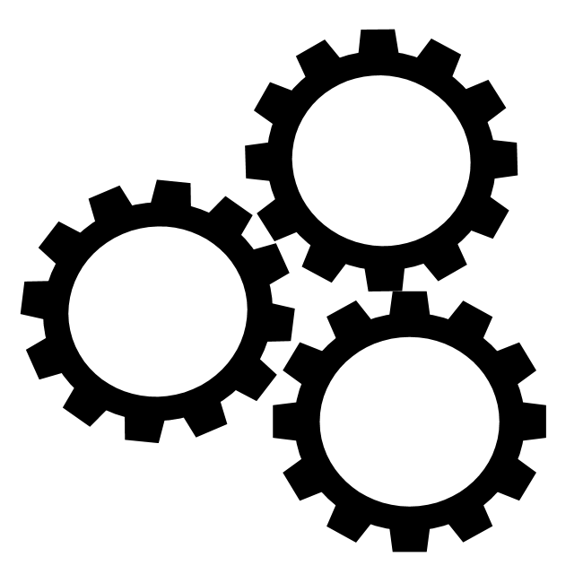 Gear with text